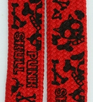 Shoelace Punk Skull Red
