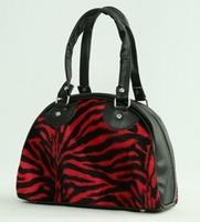 Bowlingtas Zebra rood, klein