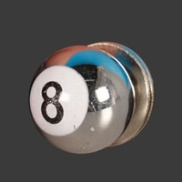 8-Ball bout en moer chrome