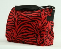 Fluffy bag Zebra red big