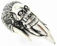 Ring Skull and Tusk