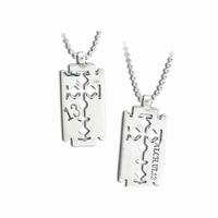 UL13 Alchemy Crucifix Razor necklace