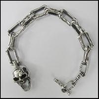 Bone links Skull bracelet