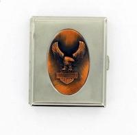 Metal Harley design sigaret box