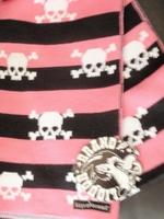 Liquor Brand scarf pink-black