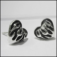Heart in Flames earring