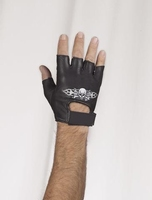 Fingerless gloves Flame & Skull