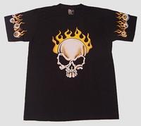 T-shirt Burning Skull