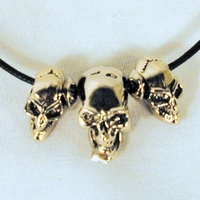 Rope necklace 3 Skulls