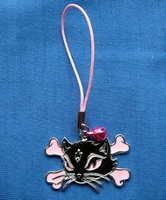 Mobile jewellery Kitty Cat pink