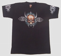 T-shirt Tribal Skull Color