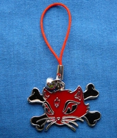 Mobile jewellery Kitty Cat red