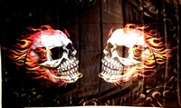Flag Burning Skulls