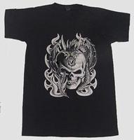 T-shirt Silver Skull