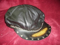 Harley Davidson  cap leather, with chain