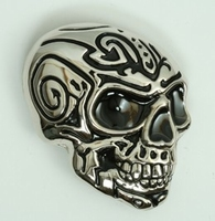 Buckle Tribal Skull