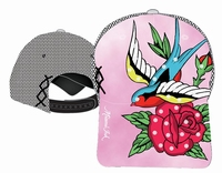 Miami Ink Pink Trucker  Lucky Bird