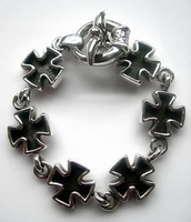 Iron cross armband zilver