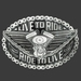 Buckle Live to ride, chain