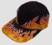 Cap flames black