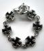 Iron cross bracelet silver